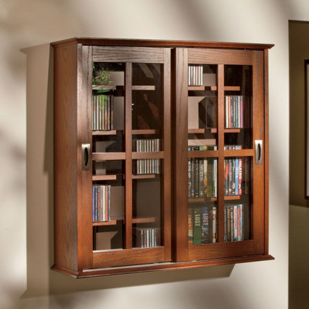 Sliding Door Media Wall Cabinet