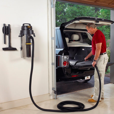 8 Gallon Wall Mount Garage Vacuum