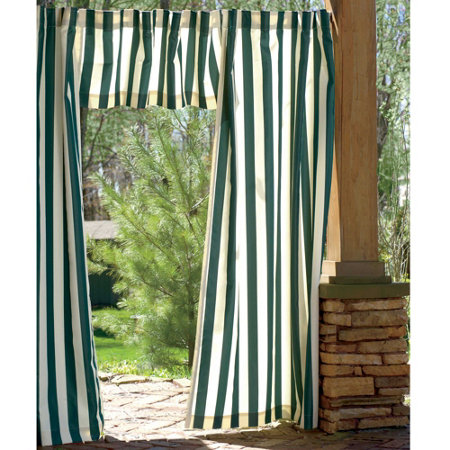 Cabana Outdoor Curtains And Matching Valance