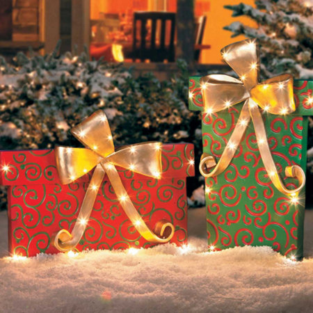 gift box outdoor christmas decoration - Outdoor Christmas Decorations Gift Boxes