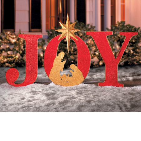 joy sign outdoor christmas decoration - Joy Outdoor Christmas Decoration