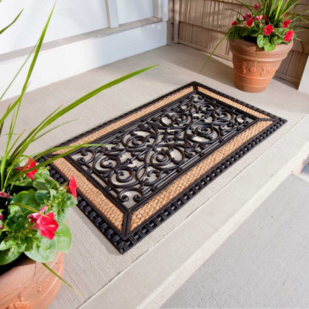Tuscany Iron Gate Rubber Coir Doormat