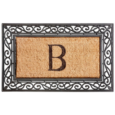 front clever l door personalized monogram welcome doormat monogrammed mats tips outdoor