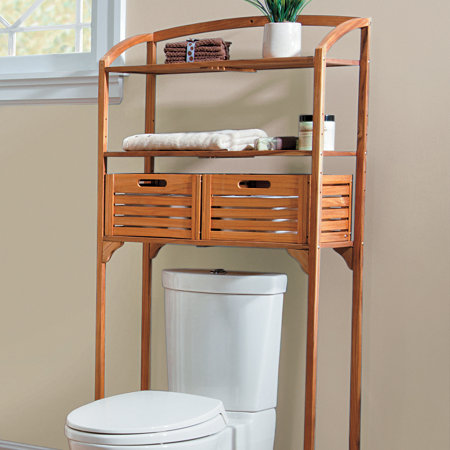 Teak Bathroom Spacesaver with Storage Baskets | Improvements