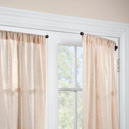 arm others awesome curtain install pin swing rods