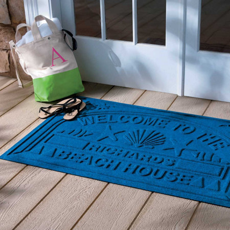 Water Guard Personalized Welcome To The Beach House Floor Mat 30