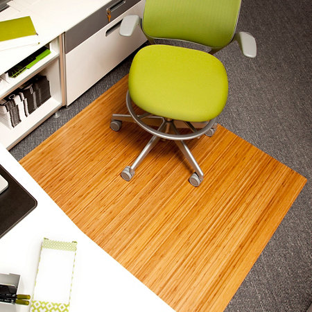 Bamboo Office Chair Mat 42