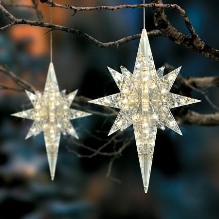battery operated led lighted star