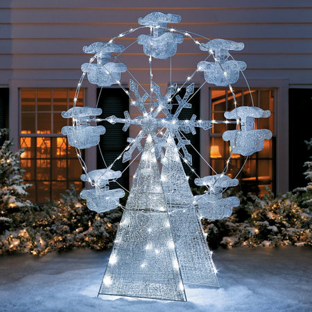 Lightshow Crystal Ferris Wheel Outdoor Christmas Decor 6