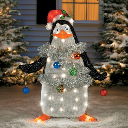 madagascar penguin christmas decoration