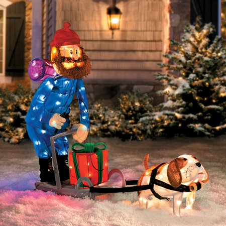 rudolph yukon cornelius with dog sled christmas decoration