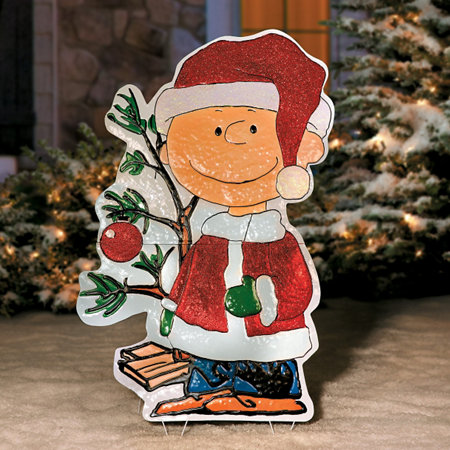 Charlie Brown Christmas Yard Decoration-Metal | Improvements