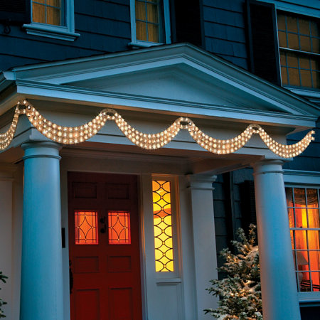 - Dazzling Lighted Christmas Swag-4-1/2' Improvements