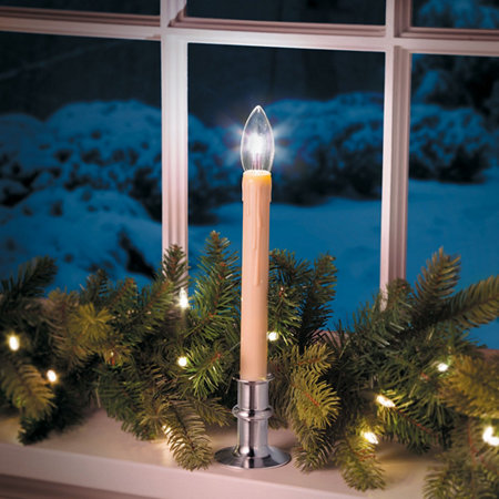 Adjustable battery operated window led candle set of 2 improvements - Appealing christmas led candles for christmas decorations ...
