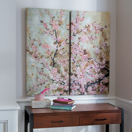 Cherry Blossom Wall Art Set Of 2 Improvements