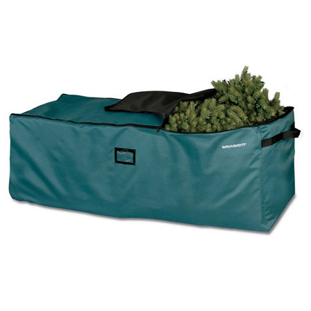 rolling christmas tree storage bag with steel frame - Christmas Tree Storage Bags