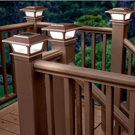 Solar post cap lights set of 2 brown improvements solar post cap lights set of 2 brown aloadofball Image collections