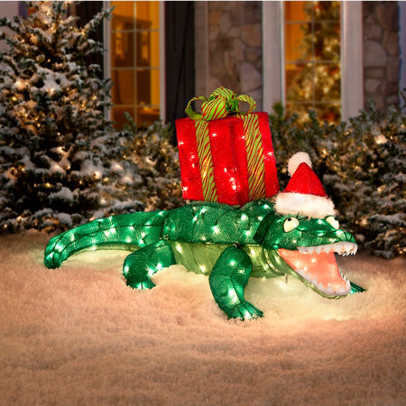 Lighted Alligator Yard Decoration Home Decorating Ideas