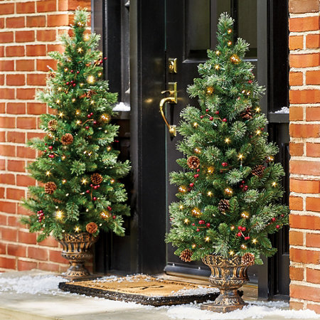 pre lit carolina entryway tree christmas decor 4 - Entryway Christmas Decorations