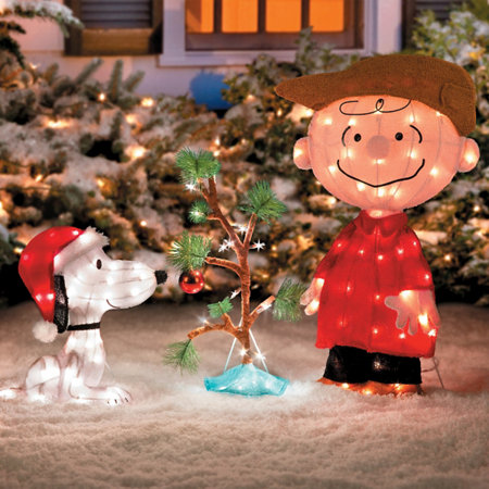 charlie brown snoopy the lonely tree christmas decor
