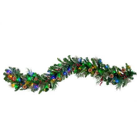 pre lit classic lighted christmas garland 6