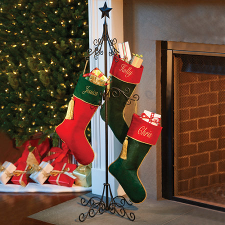 Tall Metal Christmas Stocking Holder Stand