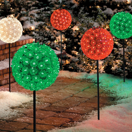 starlight sphere pathway marker christmas decor