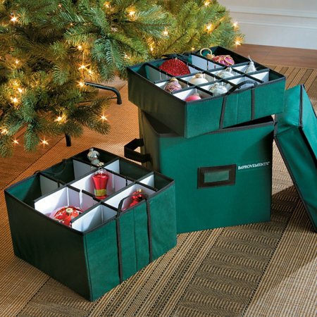 small adjustable christmas ornament storage box