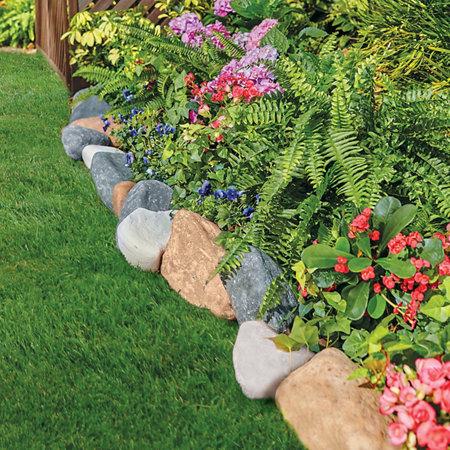 Faux Stone Landscape Edging-10' | Improvements on