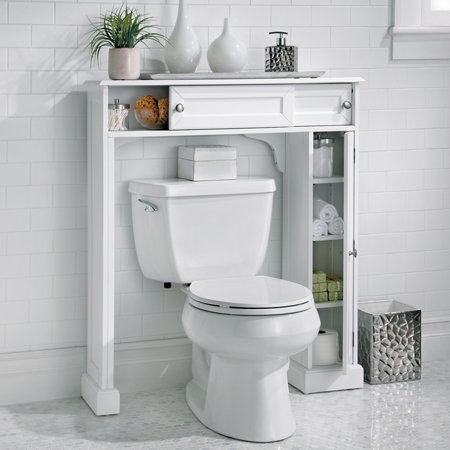 weatherby bathroom over the toilet storage cabinet improvements. Black Bedroom Furniture Sets. Home Design Ideas