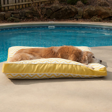 Pool Patio Rectangle Dog Bed Small