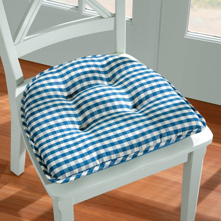 Gingham Gripper Chair Pad