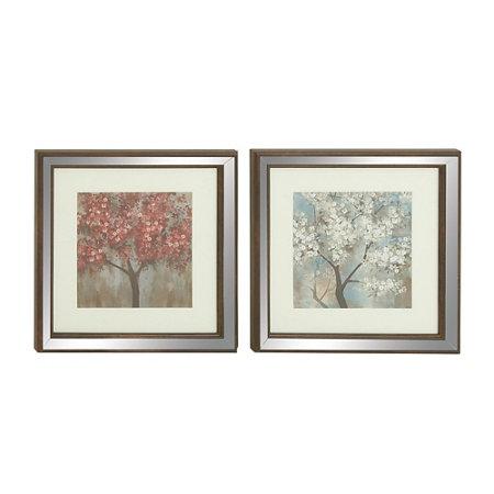 Flowering Trees Framed Wall Art-Set of 2 | Improvements