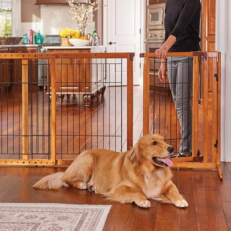 Deluxe Freestanding Dog Gate With Door Improvements
