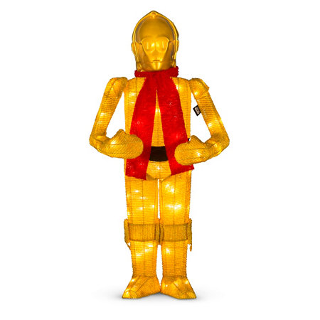 star wars lighted c 3po outdoor christmas decoration