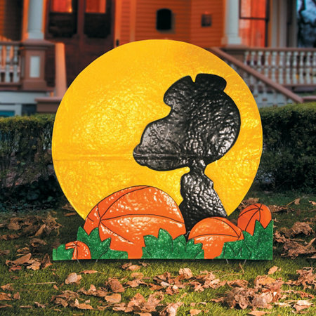 32 snoopy silhouette outdoor halloween decoration improvements