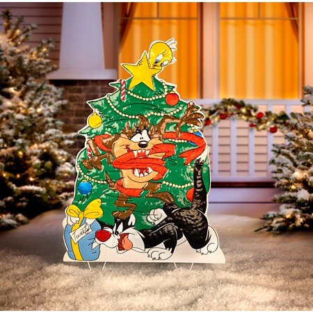metal looney tunes outdoor christmas decoration