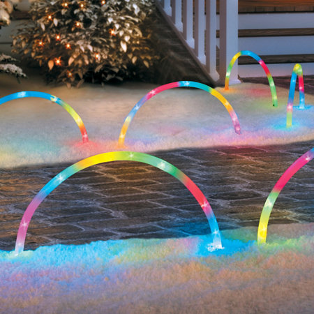 - Lighted Christmas Arch Pathway Markers-Set Of 5 Improvements