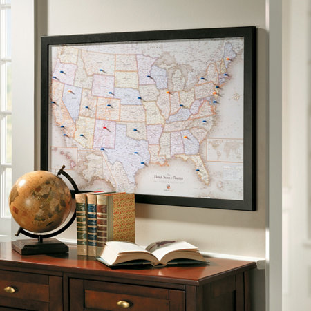 Framed magnetic travel maps improvements framed magnetic travel maps gumiabroncs Images