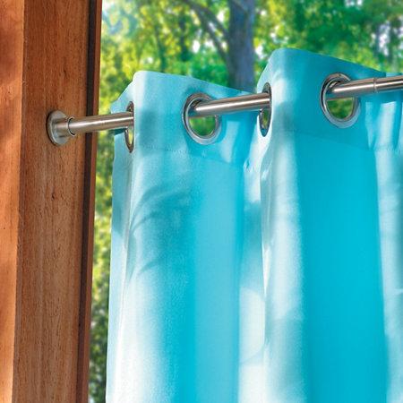 Indoor Outdoor Tension Curtain Rod 18 28