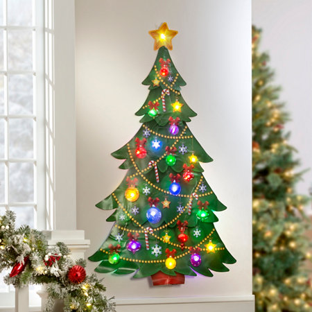 Christmas Tree Illuminated Wall Art | Improvements