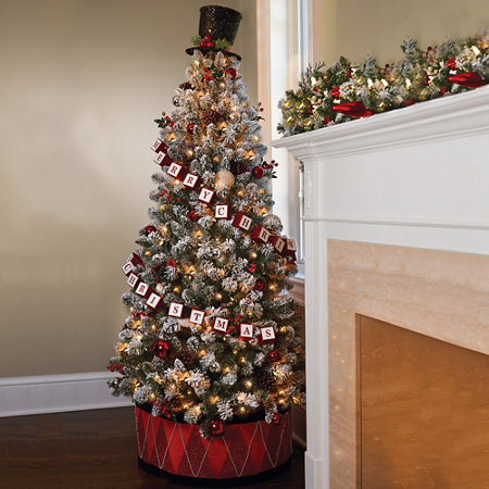 6 pre decorated christmas tree