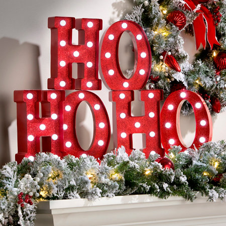 lighted ho ho ho marquee sign christmas decoration