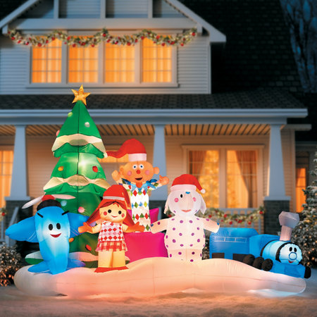 rudolphs island of misfit toys christmas inflatable - Misfit Toys Outdoor Christmas Decorations