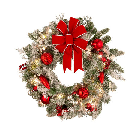 Let It Snow Lighted Christmas Wreath - Let It Snow Lighted Christmas Wreath Improvements