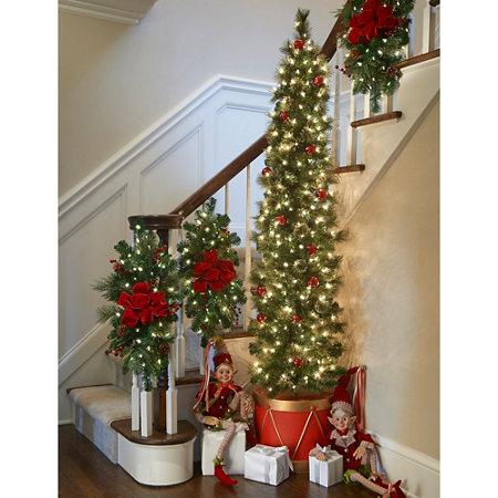 6 12 calgary spruce drum half christmas tree - Half Christmas Tree