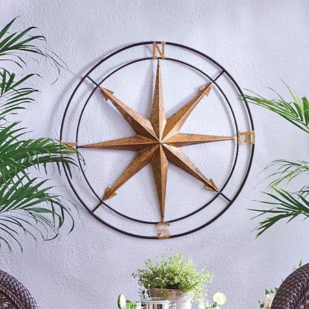Vintage Compass Metal Wall Decor | Improvements