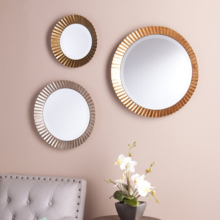 Lucerne Round Wall Mirrors Set Of 3