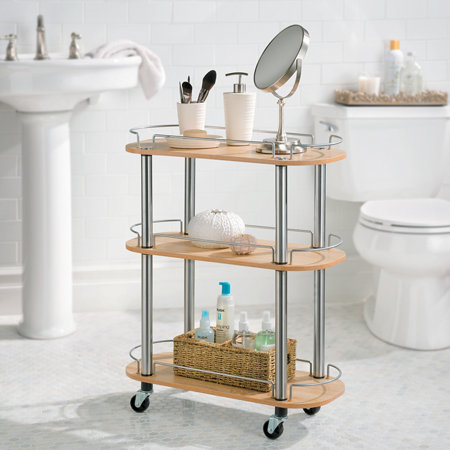 3 Shelf Rolling Bathroom Cart