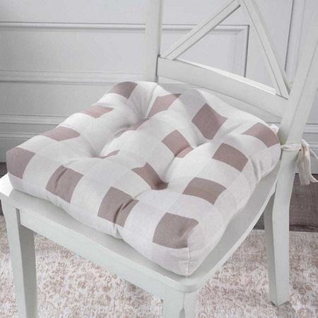 Buffalo Check Tufted Chair Pad